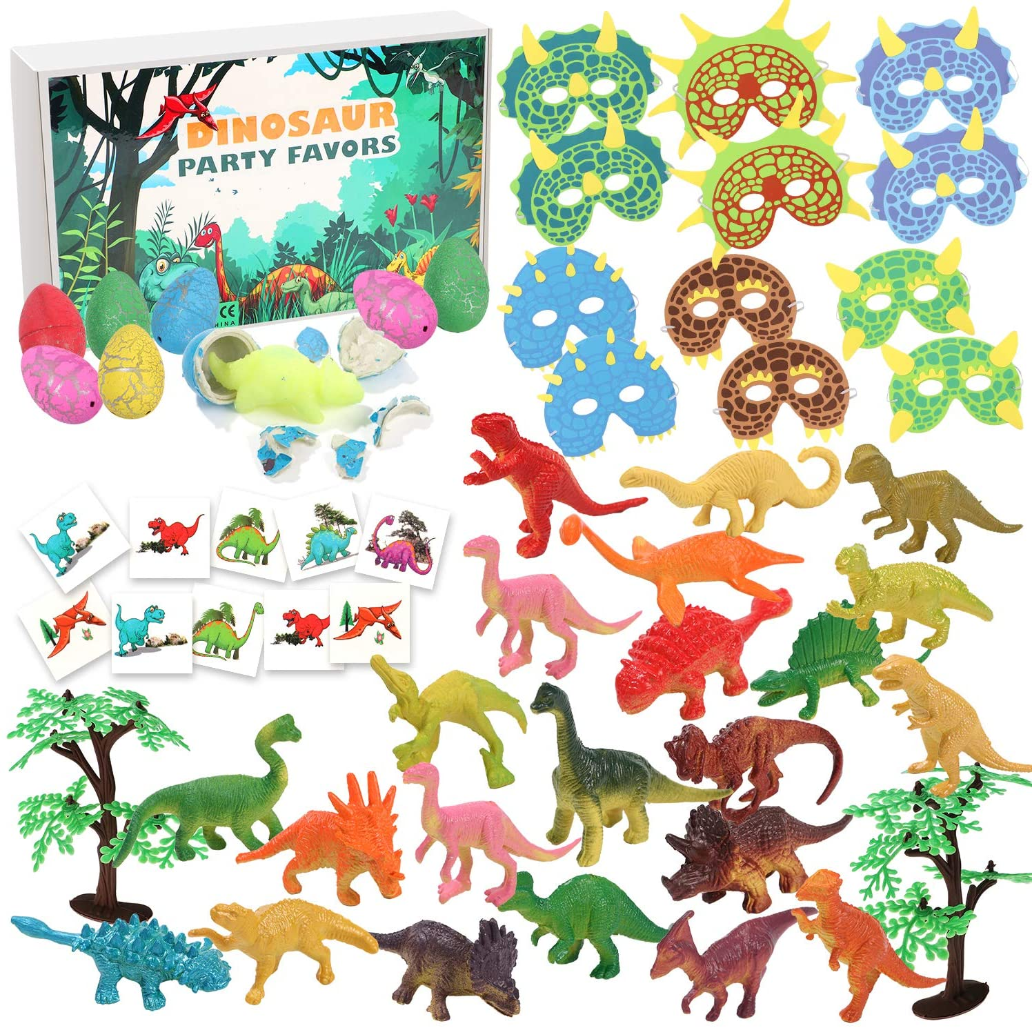 jouets figurines pinata dinosaure masque oeufs fossile